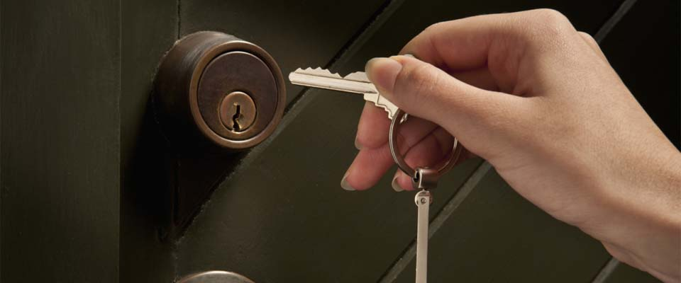 Key into lock